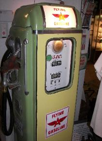 Old gasoline pump - Flying Gasoline