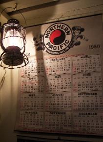 Lantern and Northern Pacific calendar