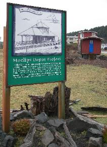 Site of the Northern Pacific Railroad depot in Moclips