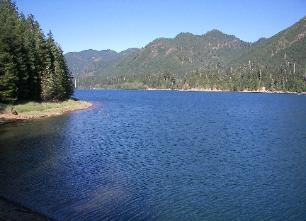 View of Lake Wynoochee from the Coho Campground