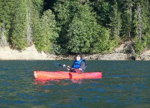 Kayaking on Lake Wynoochee
